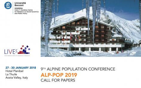 Call for papers regarding the 9th Alpine Population Conference