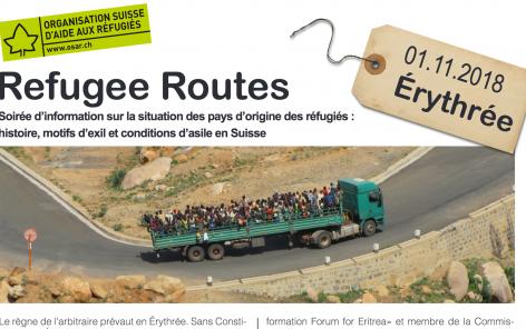 Refugee routes: soirée d'information sur l'Érythrée - COMPLET