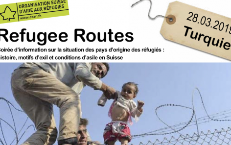 Refugee Routes 28.03.2019, OSAR - Turquie