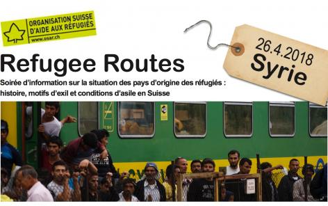 """Refugee Routes"":  an evening of discussion about Syria in partnership with the SRC"
