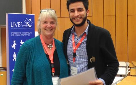 SLLS President Elizabeth Cooksey and LIVES PhD Candidate Ignacio Madero-Cabib